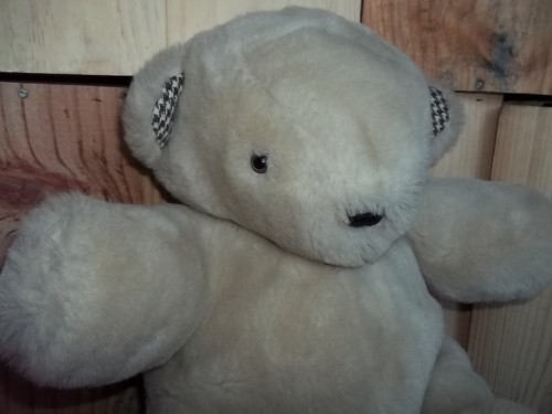 ours, peluche, couture
